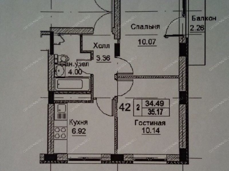 двухкомнатная квартира на улице Дорожная, 2