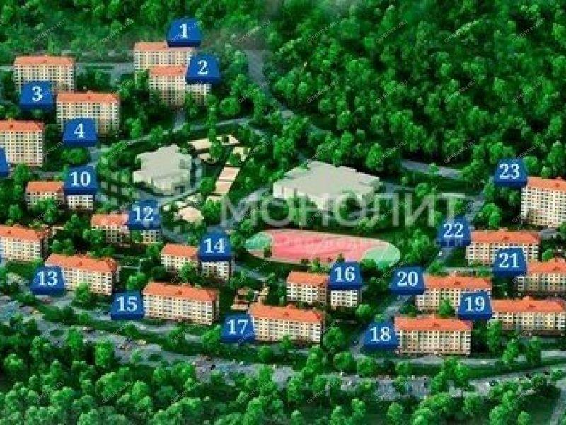однокомнатная квартира на улице Дорожная дом 1 посёлок Новинки