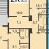 двухкомнатная квартира на улице Коминтерна дом 56