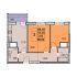 двухкомнатная квартира в новостройке на жилой дом №1 (по генплану) по улице Профинтерна