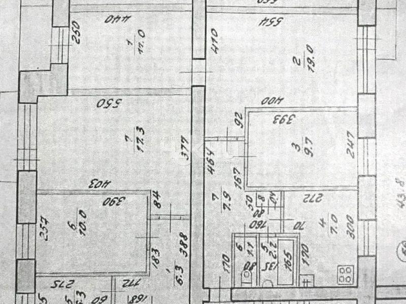 трёхкомнатная квартира на улице Белинского дом 85