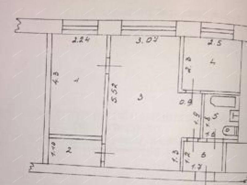 двухкомнатная квартира на улице Космонавтов дом 3 город Балахна
